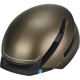Cratoni C-Loom Casco, brown-blue rubber